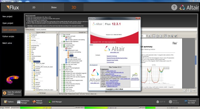 Working with Altair Flux supervisor 12.3.1 3D Win64 FULL