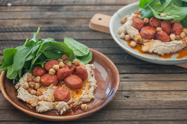 Hummus with Chorizo & Roasted Hazelnuts-2