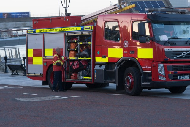 NORTHERN IRELAND FIRE AND RESCUE SERVICE IN BELFAST [SRT APPLIANCE]-129106
