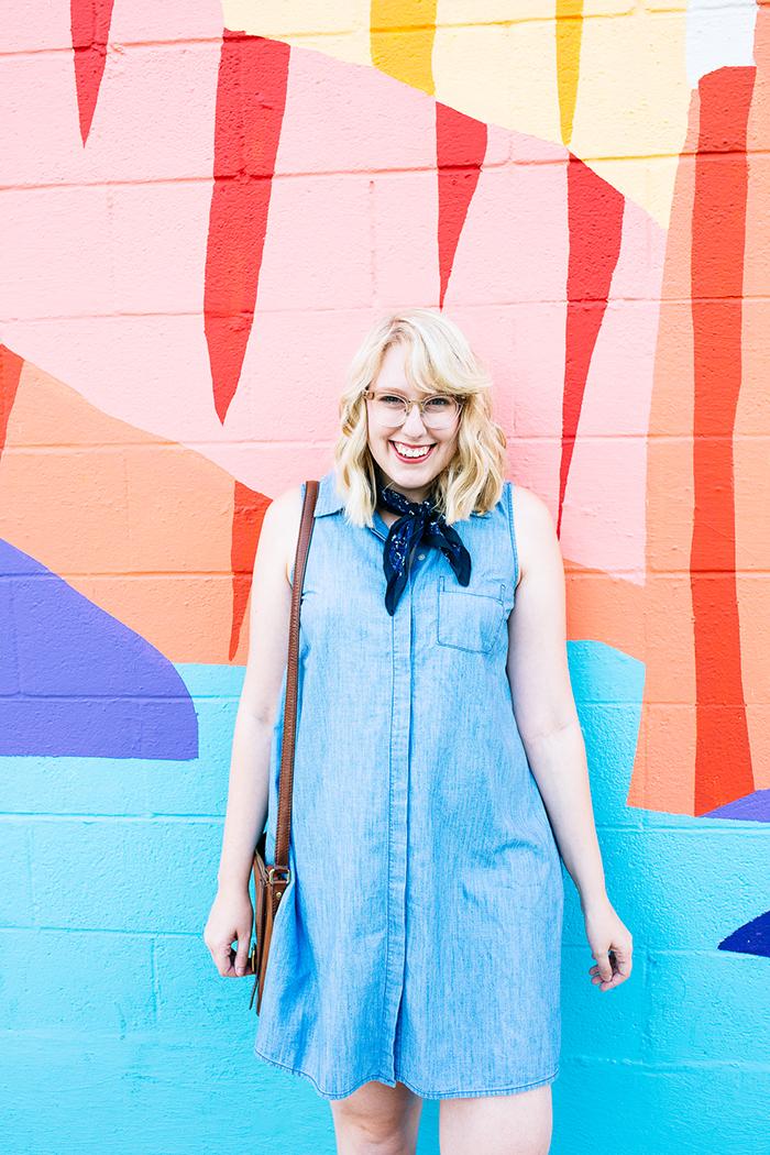 austin fashion blogger writes like a girl old navy denim dress11