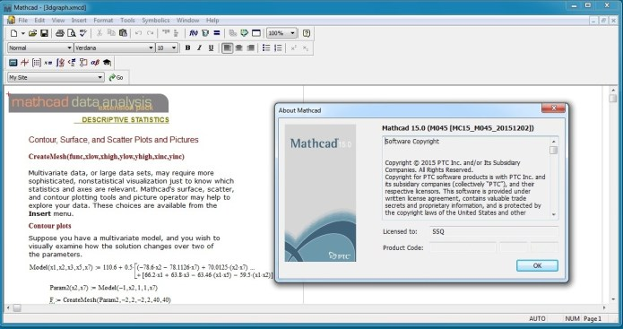 Working with PTC MathCAD v15.0 M045 Multilanguage full license