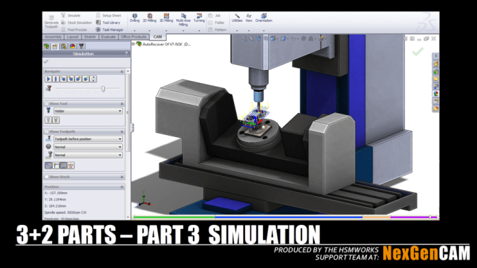 simulation with HSMWorks program