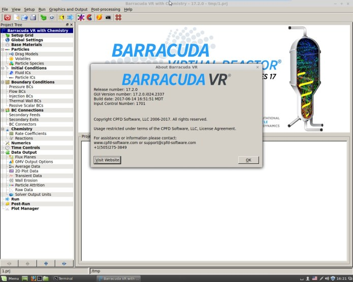working with CPFD Barracuda VR 17.2.0 full license
