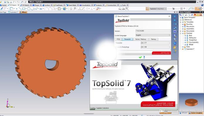 Working with TopSolid v7.10 x86 x64 full crack