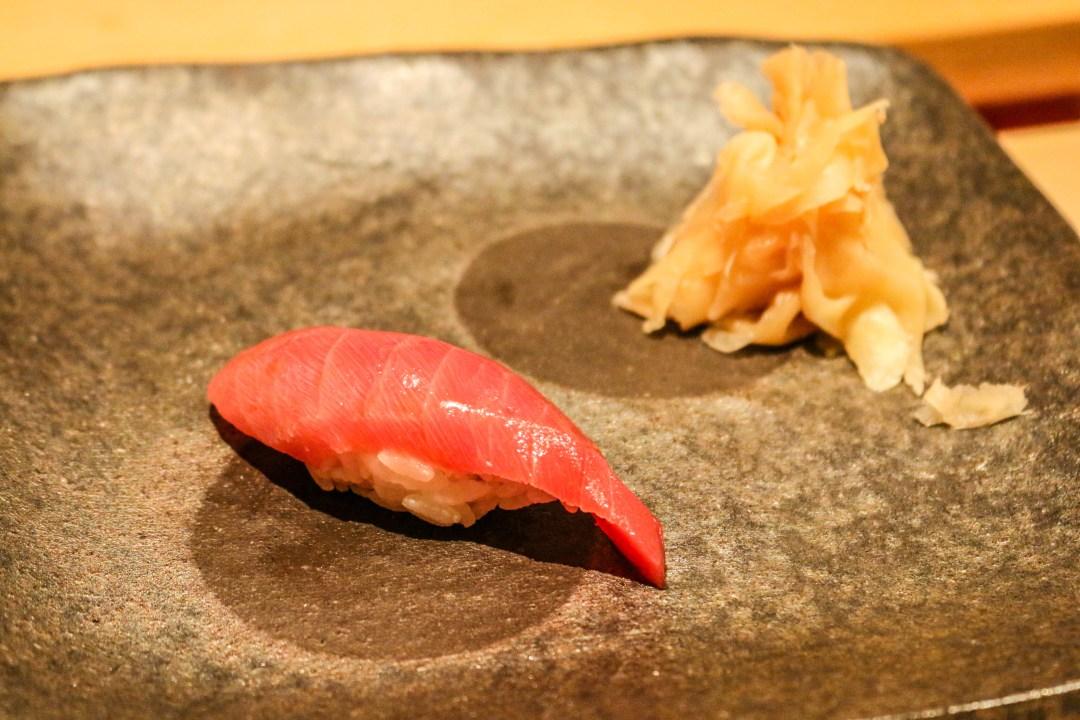Maguro (tuna) sushi