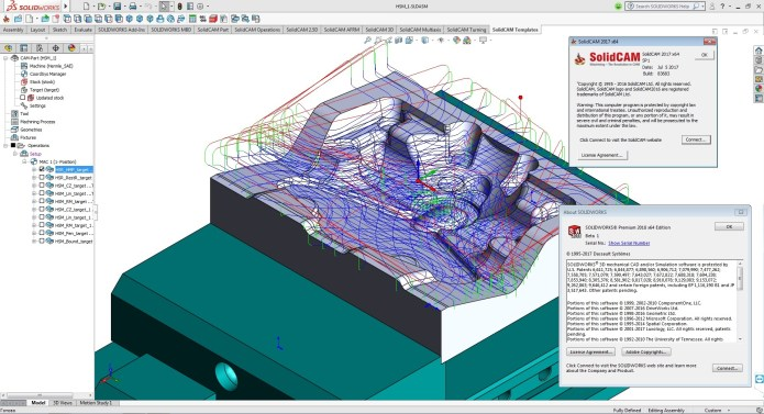 Create toolpaths with SolidCAM 2017 SP1 Multilang for SolidWorks 2018