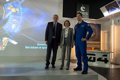 Florence Parly meets ESA astronaut Thomas Pesquet