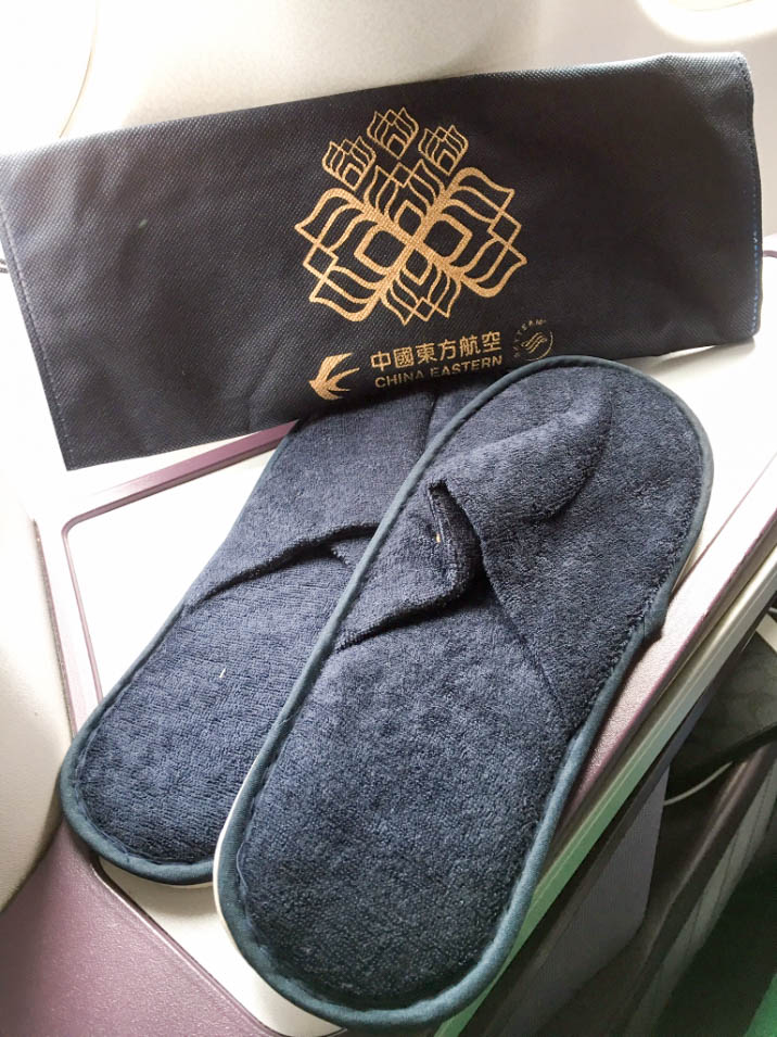 China Eastern business class slippers