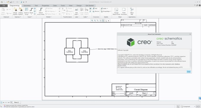 working with PTC Creo Schematics 4.0 F000 Win64