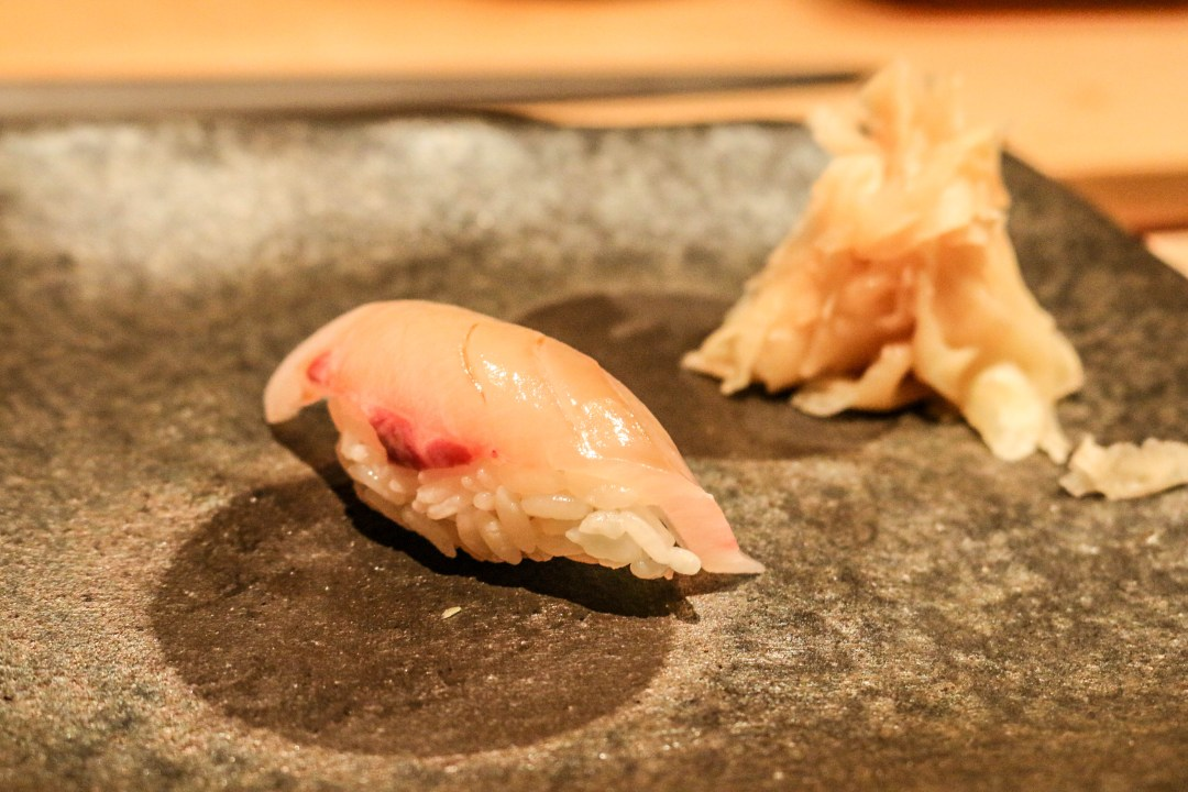 Amber-jack sushi