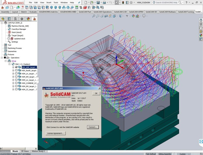 Machining with SolidCAM 2017 SP1 Multilang for SolidWorks 2017