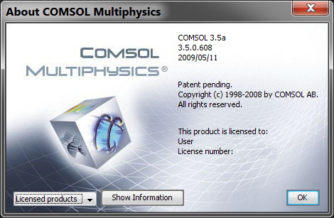 COMSOL Multiphysics 3.5.0.608