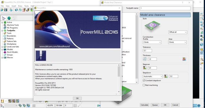 Working with Delcam PowerMILL 2016 SP13 full crack