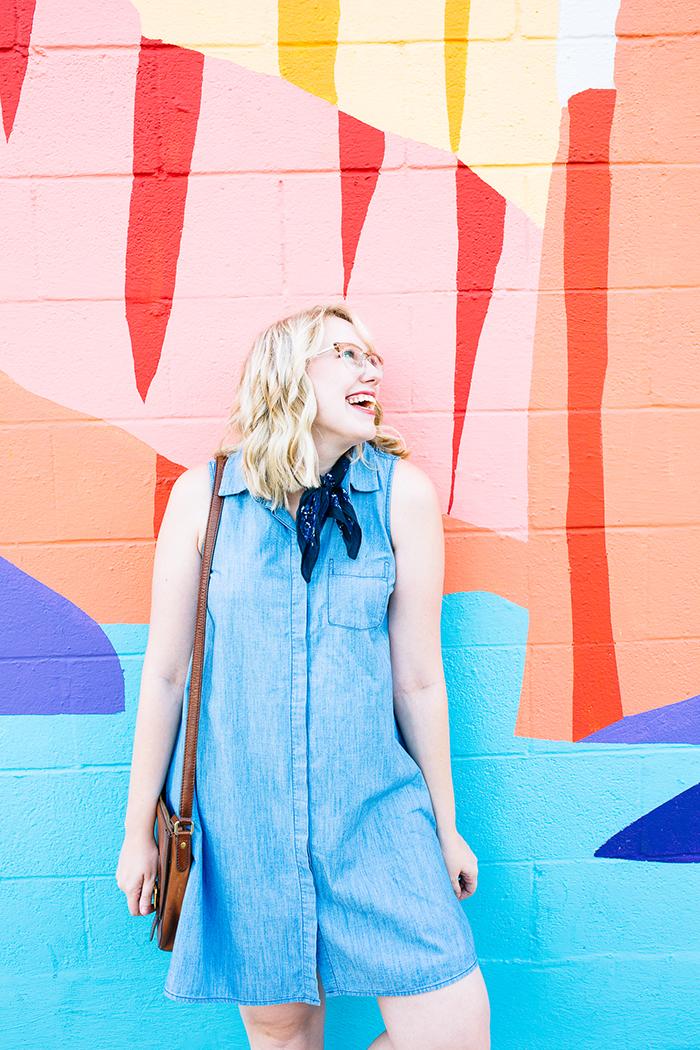 austin fashion blogger writes like a girl old navy denim dress9