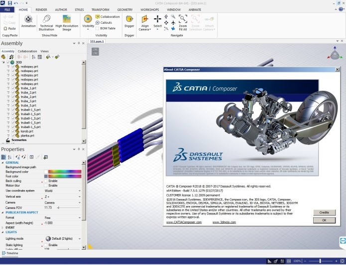 Design with DS CATIA Composer R2018 full license