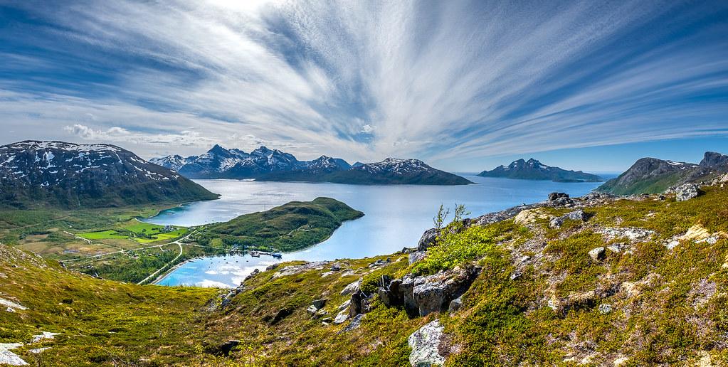 Mountain View View Over Lyfjord And Bellvik On Kval 248 Ya John A Hemmingsen Flickr