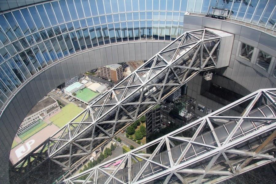 escalator umeda sky building