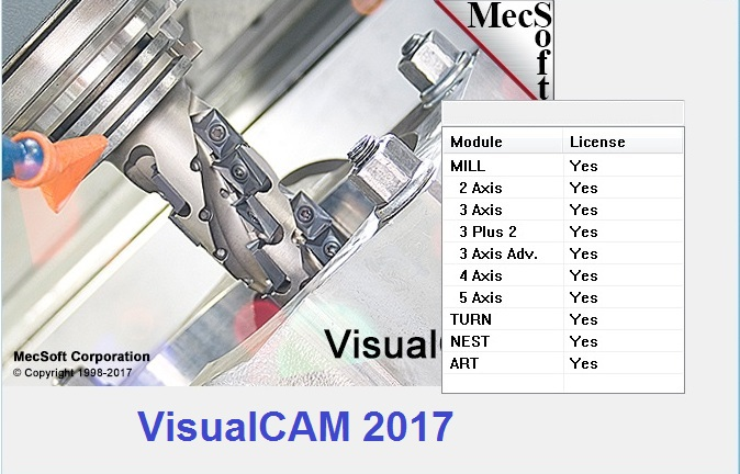 MecSoft VisualCADCAM 2017 v6.0.419 x86 x64 full