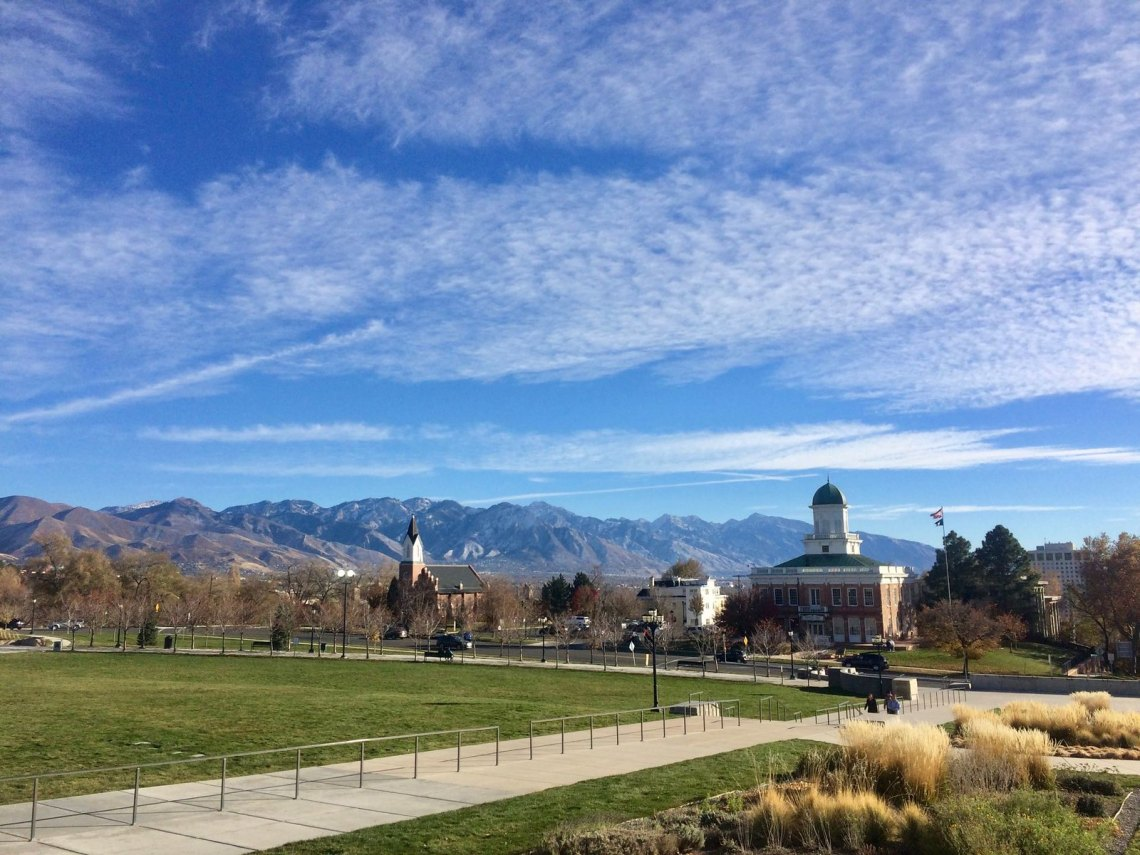 View from Salt Lake City Capitol Steps