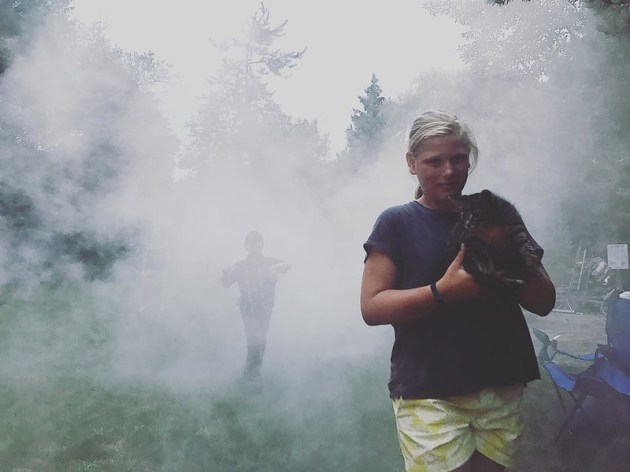 Fogging for mosquitos, saving kittens, chasing cousins, karaoke in the rain, passing out extra dessert to neighbors, bonfires, and alllllllllll the laughter. 
