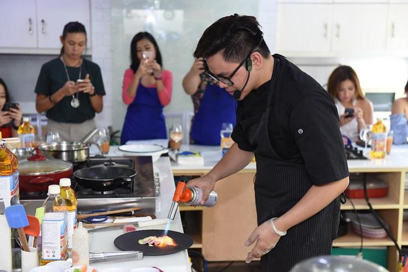 Grande rice bran oil cooking event