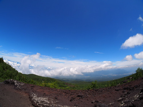 View from timberline on Mt. Fuji
