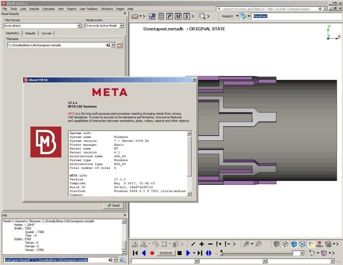 Working with BETA CAE Meta Post 2017.1.1 full license