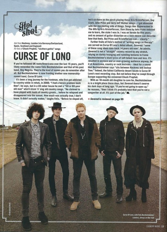 Curse Of Lono - Country Music Mag 12.7.17