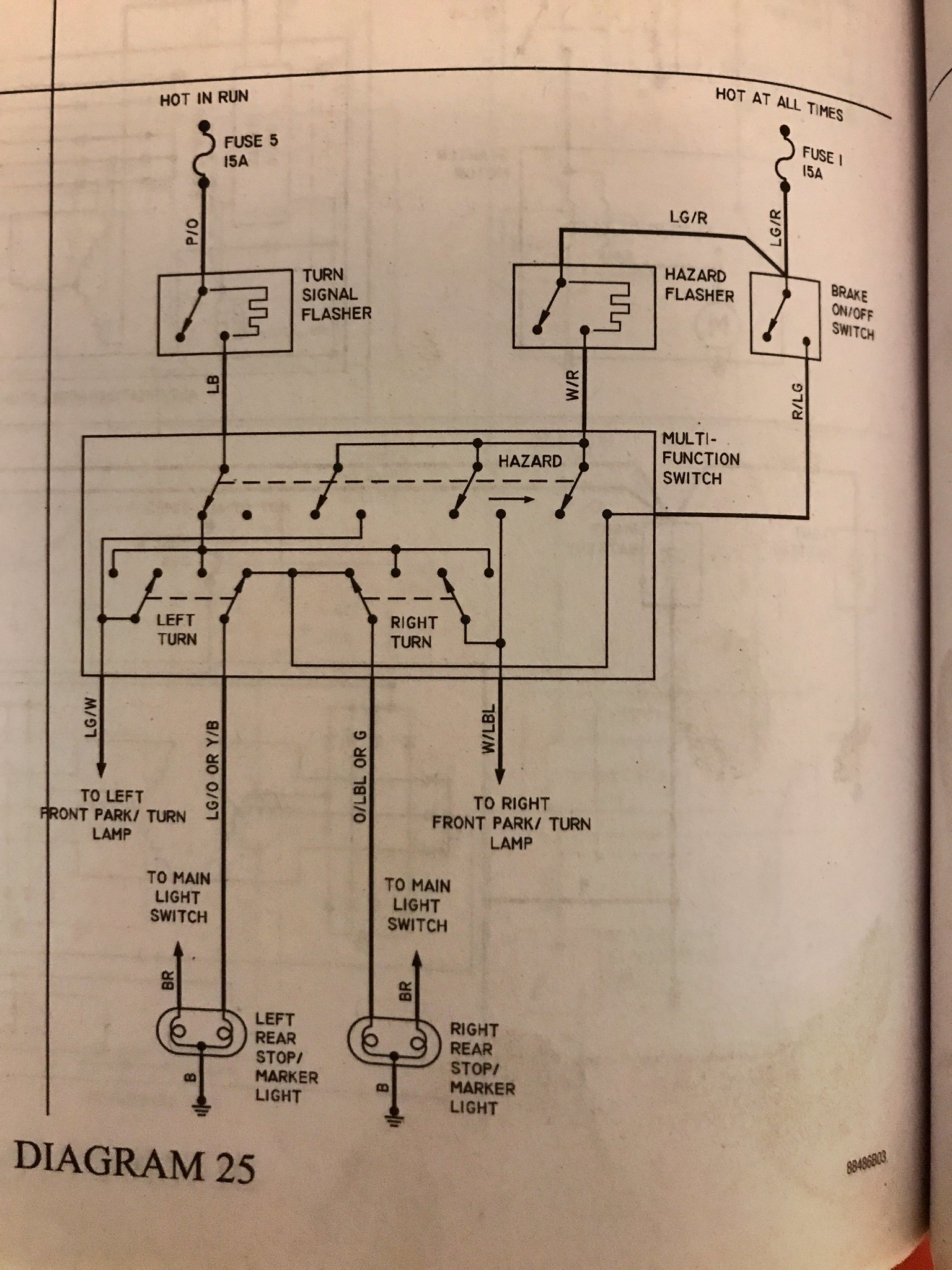 350 Truck 1967 Exterior Lights And Turn Signals Wiring Diagram