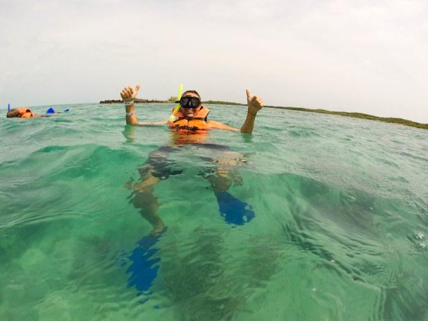 Esnorquel en isla Contoy