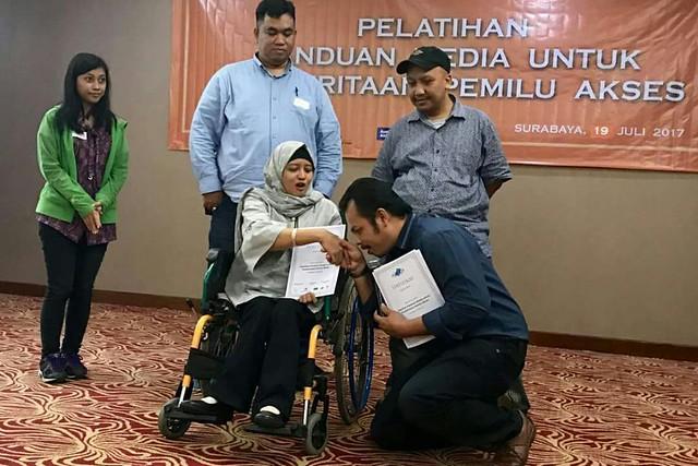 Pemilih disabilitas. Sumber Foto: Dokumentasi pribadi Choirul Anam