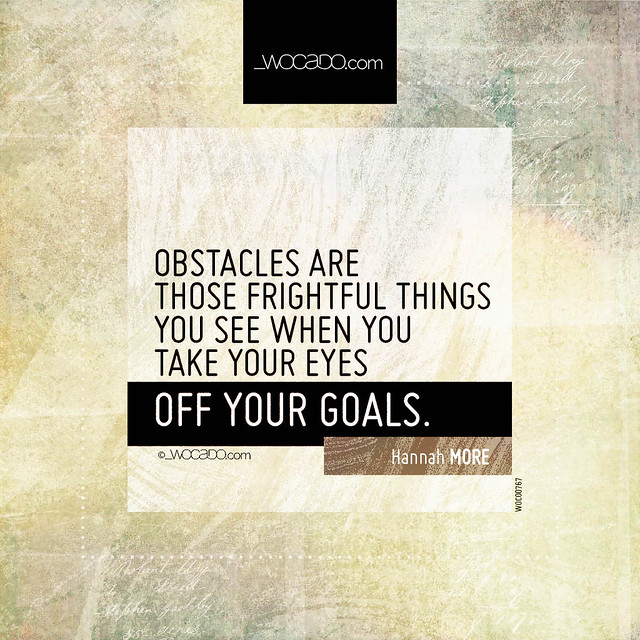 Obstacles are those frightful things by WOCADO.com