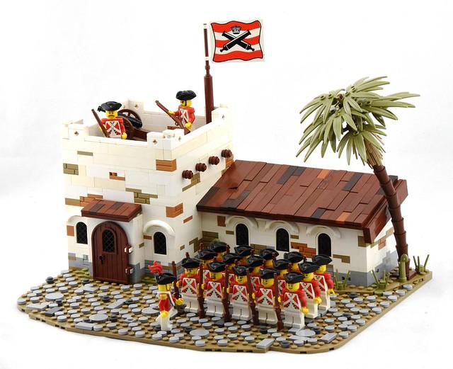 Infantry Barracks, Port Woodhouse - LEGO Soldats rouges