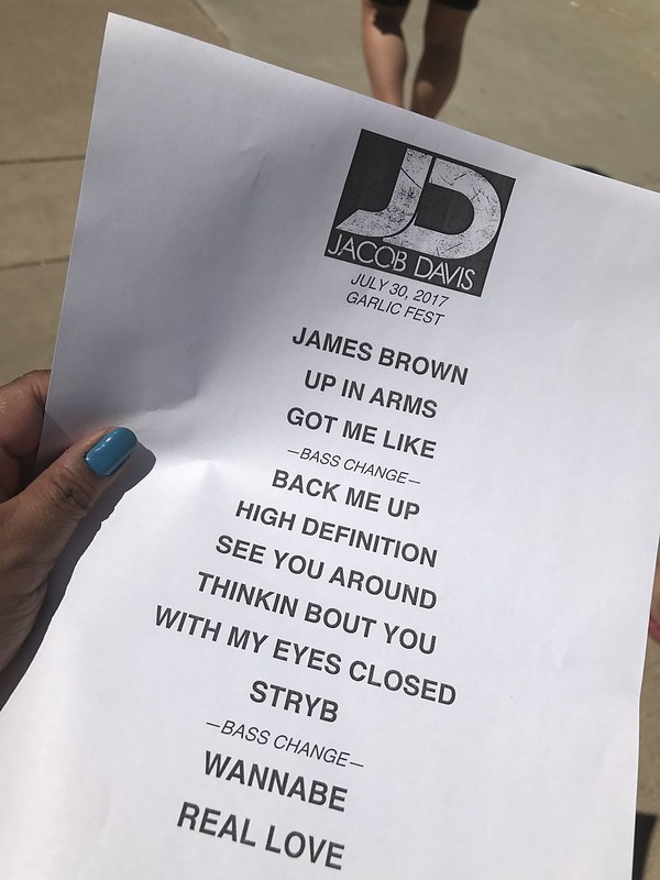 the set list