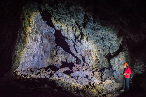 Icelandic lava tunnel