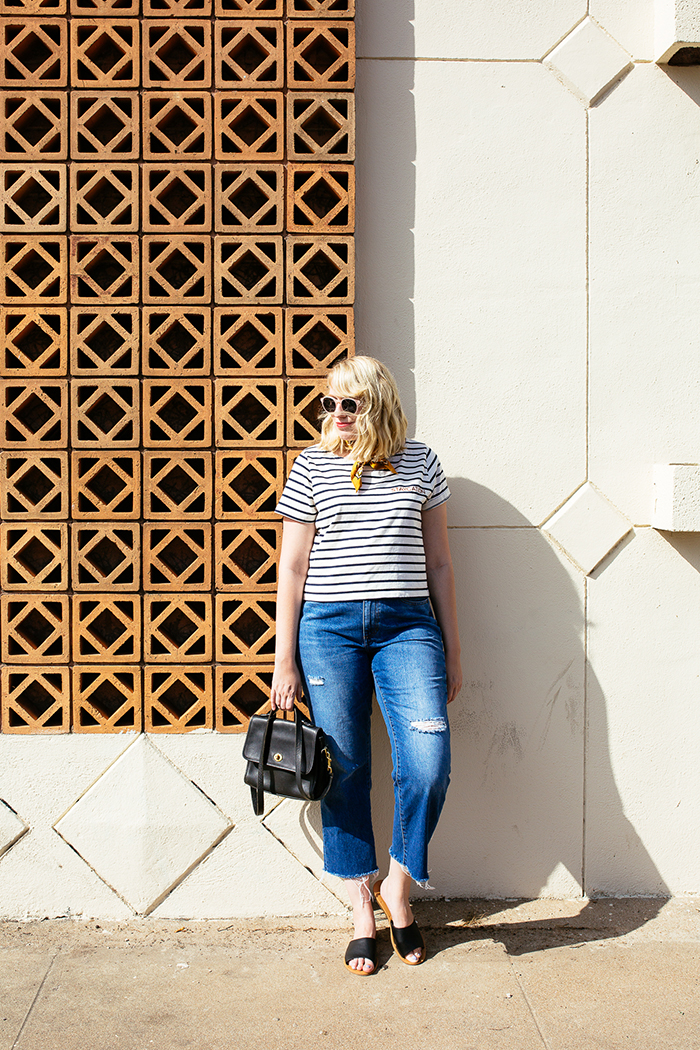 austin style blogger writes like a girl madewell staycation striped tee8