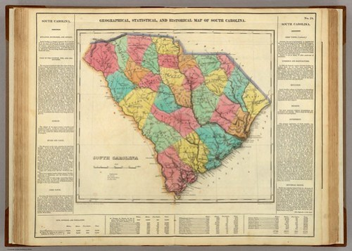 1822 Carey & Lea Map of South Carolina