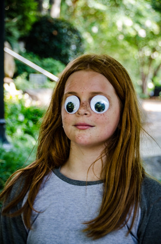 Emma with Googly Eyes