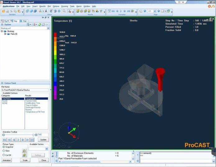 Simulation with ESI ProCAST v2015 full crack