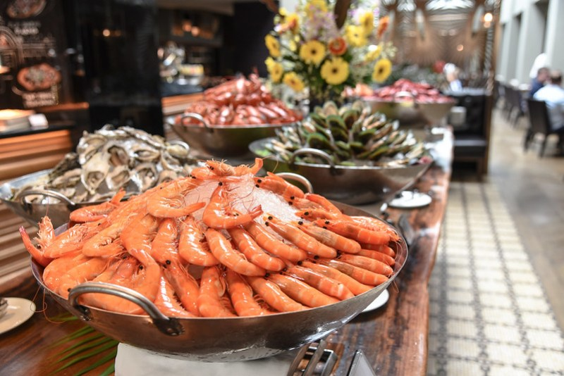 seafood counter - ash and elm sunday brunch