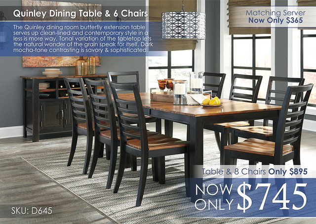 Quinley Dining Set D645-35-01(8)-60