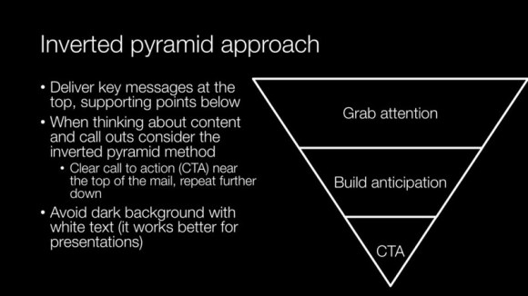 Inverted pyramid approach