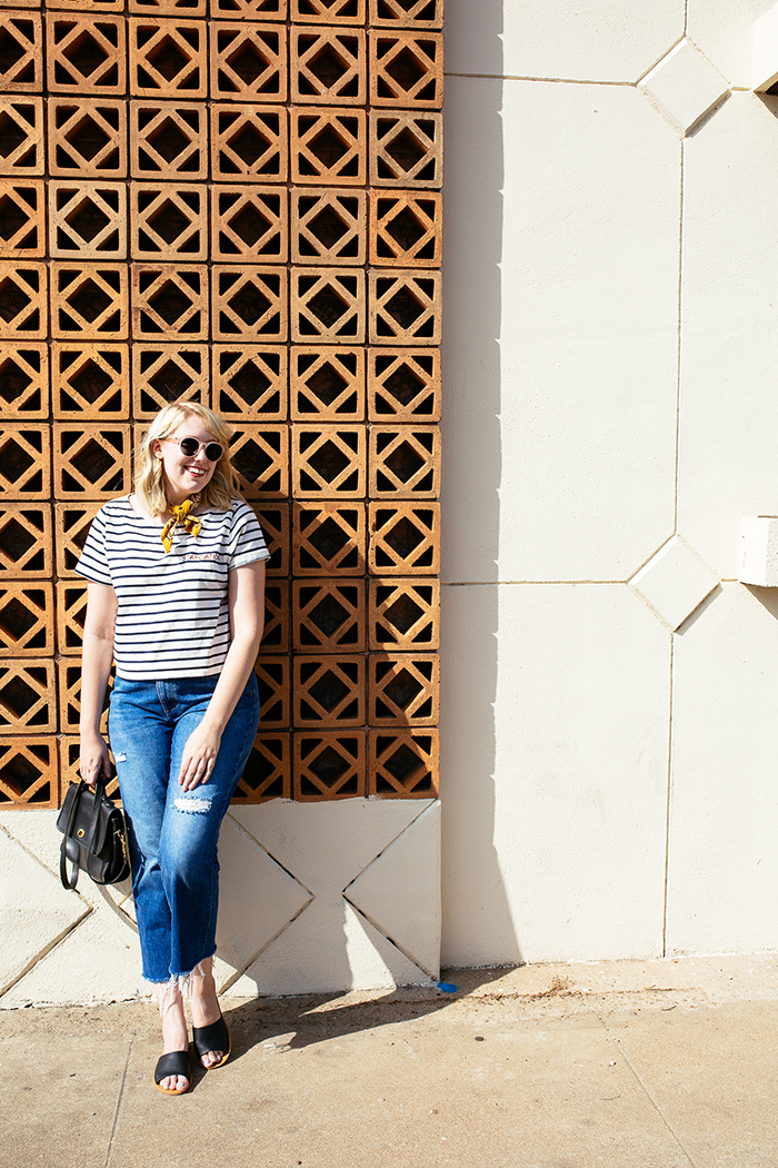 austin style blogger writes like a girl madewell staycation striped tee4