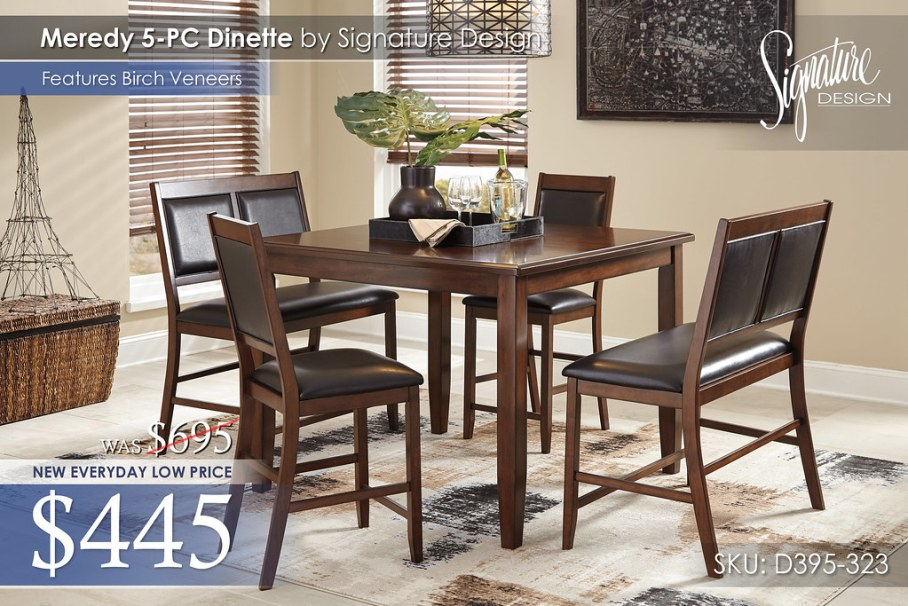 Meredy 5PC Dinette D395-323-R401061