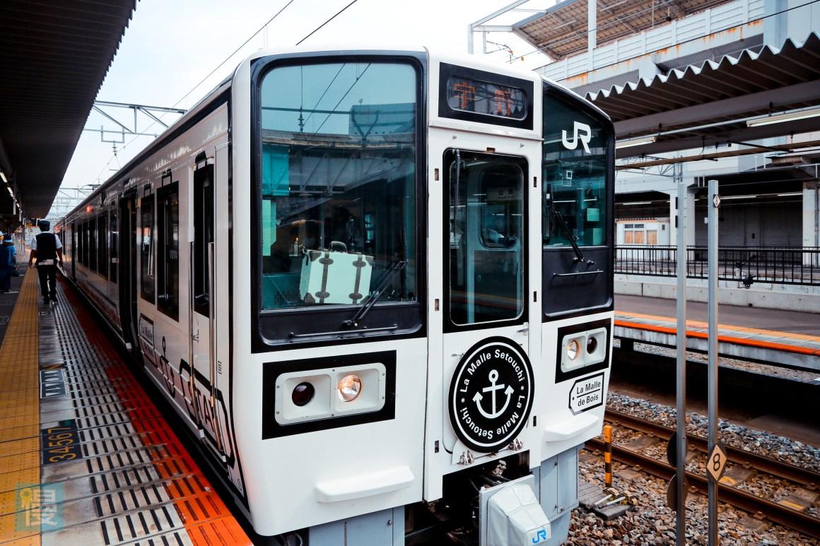 岡山出發文青藝術風的JR觀光列車 2016-354