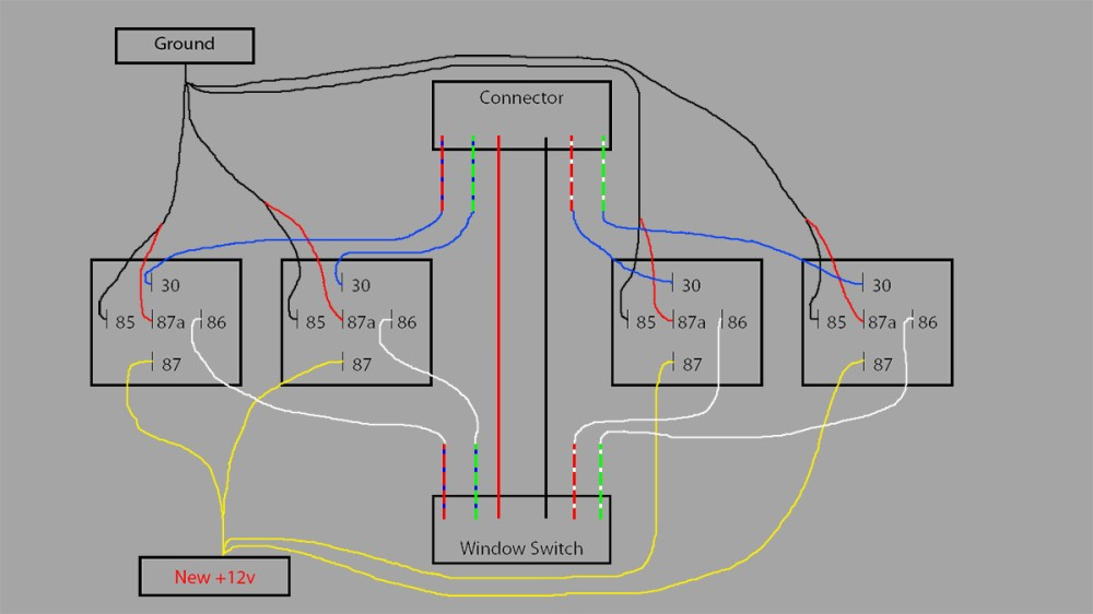 medium resolution of terminals 85 and 87a on all 4 relays need to go to your new ground solder these wires together and connect to your 2 pin plug make sure you install in the