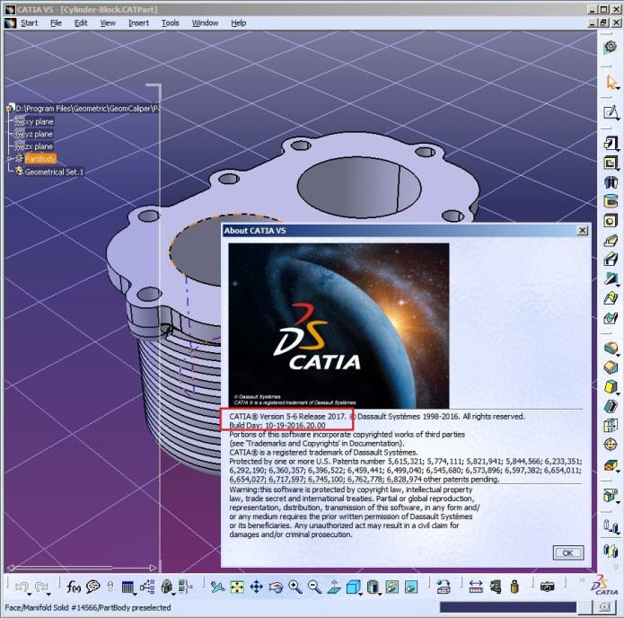 Design with DS CATIA P3 V5-6R2017 full license