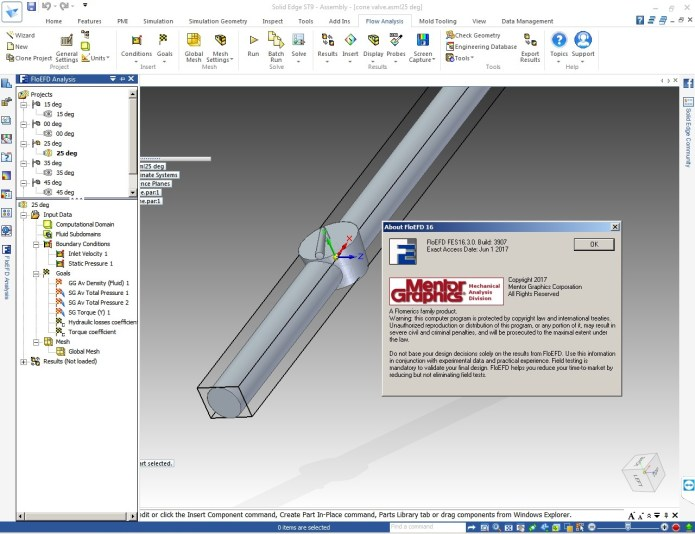 Working with FloEFD.16.3.v3907.SolidEdge.Win64