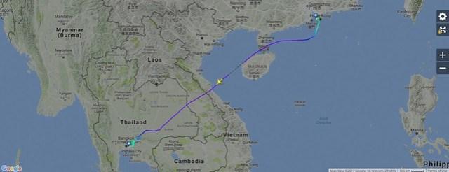 CX751 Flight Map