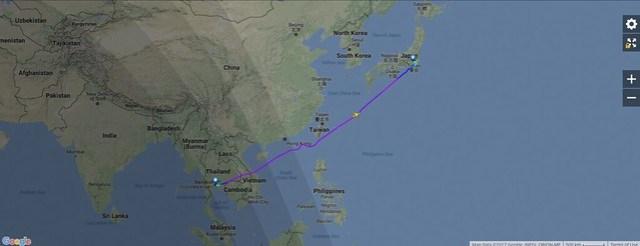 JL32 Flight Map